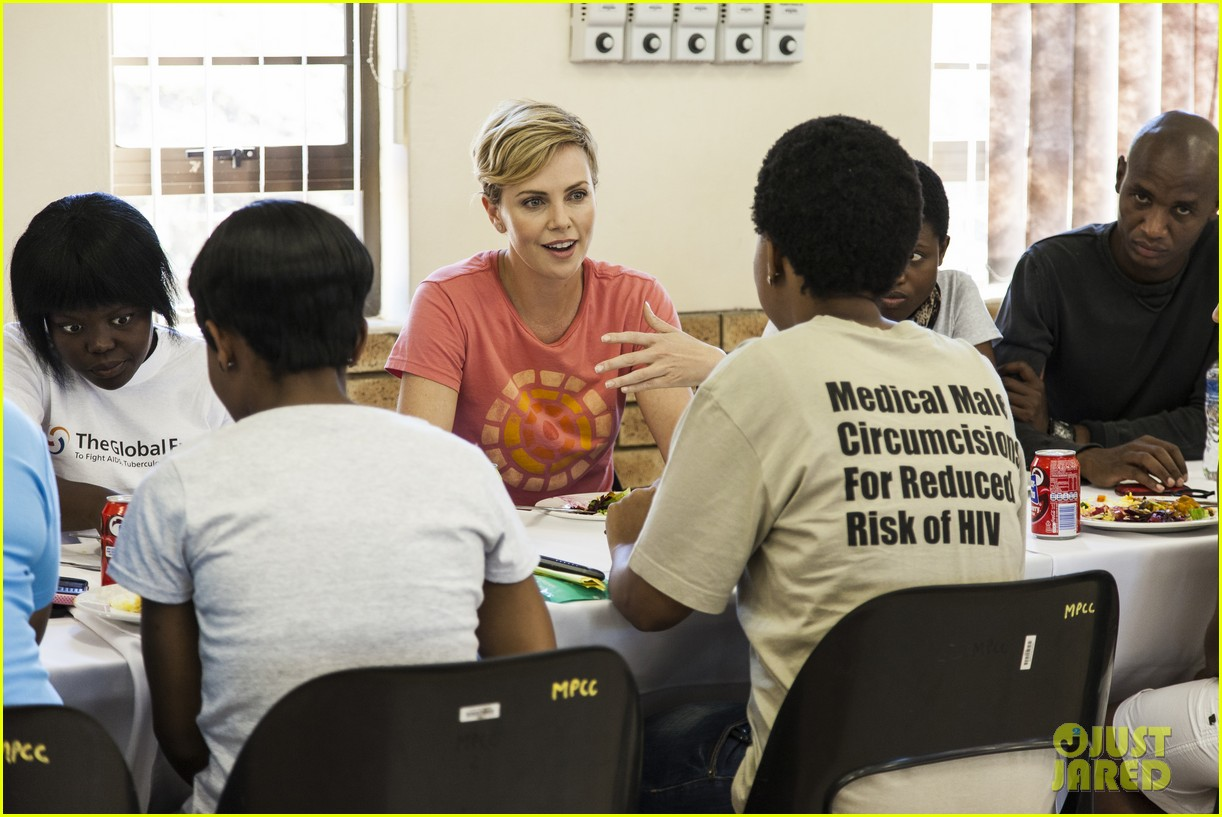 charlize theron visits youth ambassador project in south africa 02