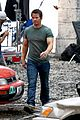 mark wahlberg bloody head wounds on transformers 4 set 13
