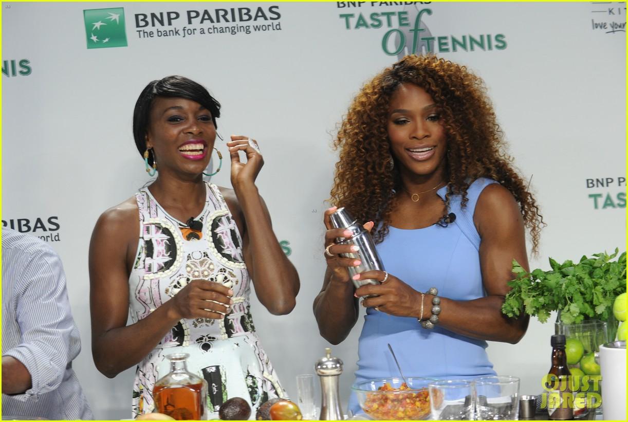 serena williams bnp paribas taste of tennis with venus 17