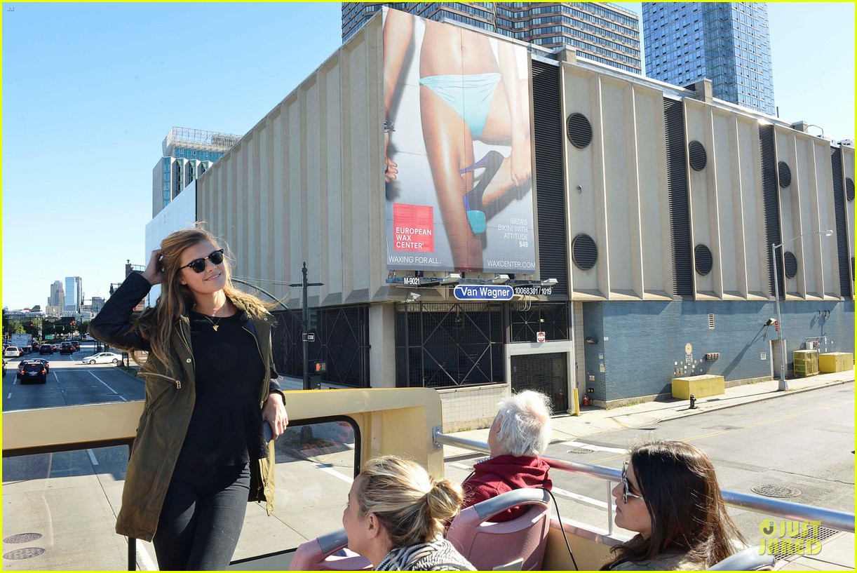 nina agdal european wax center bum bus tour 14