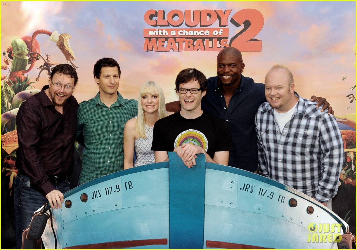 anna faris andy sandberg cloudy 2 photo call 03