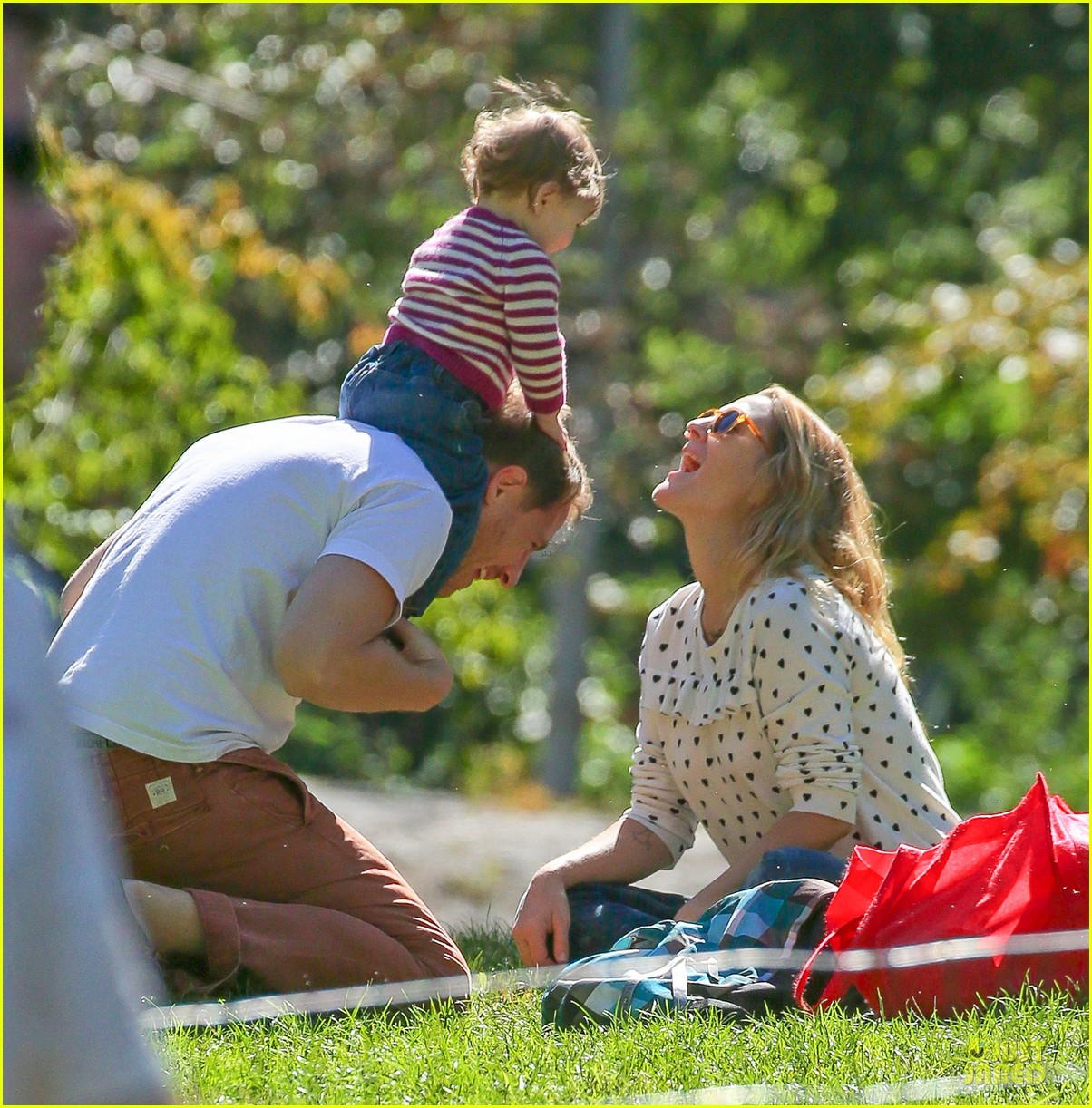 drew barrymore will kopelman central park fun with olive 06