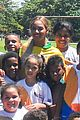 beyonce shows off soccer skills at brazil public school 06