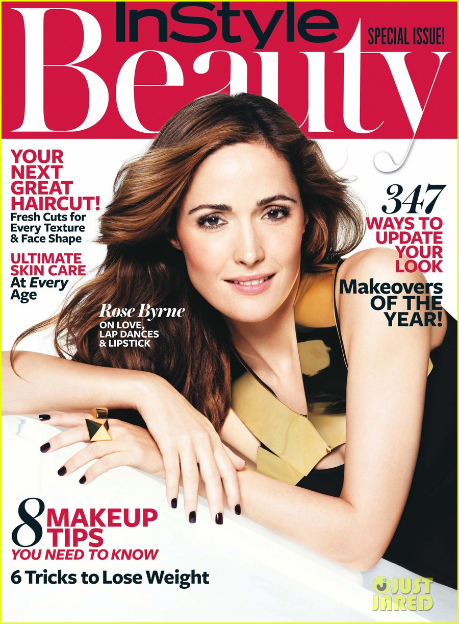 rose byrne covers instyle beautys fall issue 01
