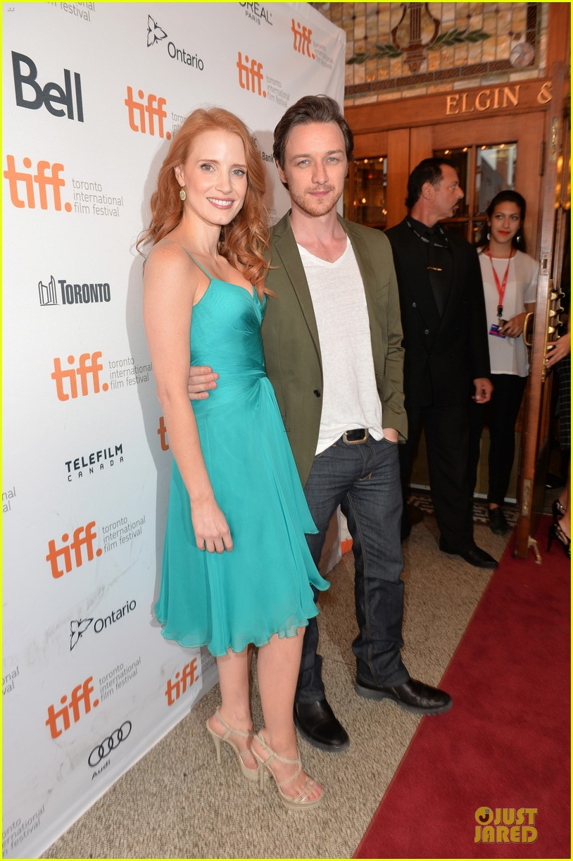 jessica chastain james mcavoy disappearance of eleanor rigby tiff premiere 26