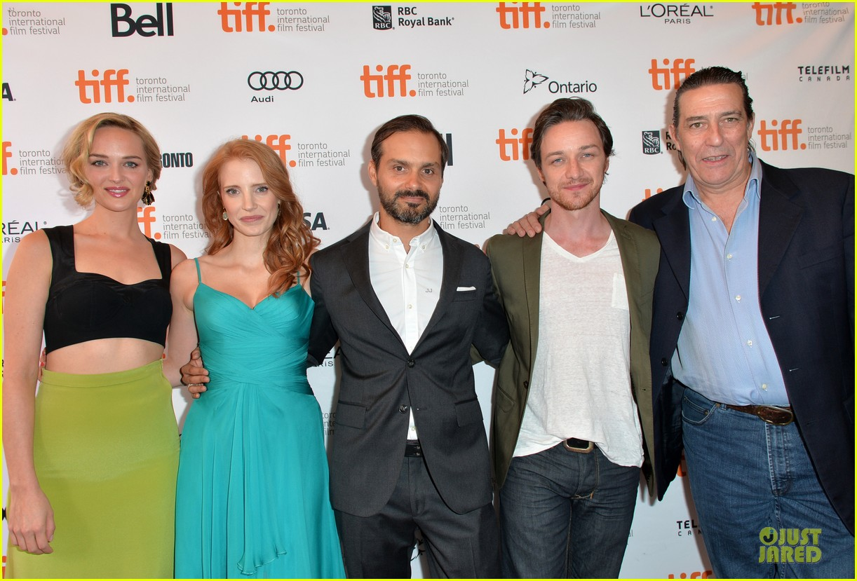 jessica chastain james mcavoy disappearance of eleanor rigby tiff premiere 27