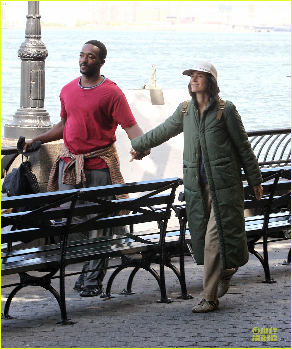 jennifer connelly anthony mackie hold hands for shelter 10