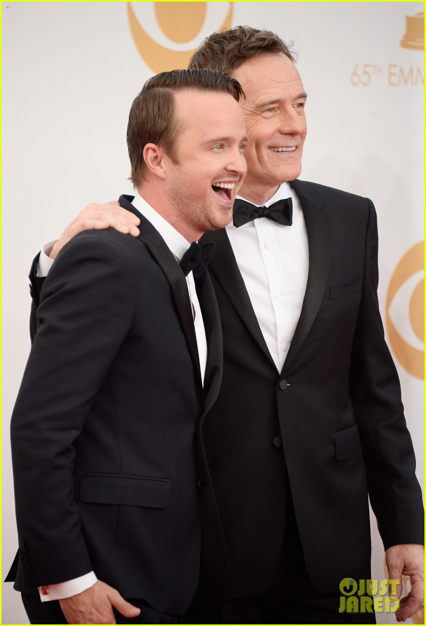 bryan cranston aaron paul emmys 2013 red carpet 132958125