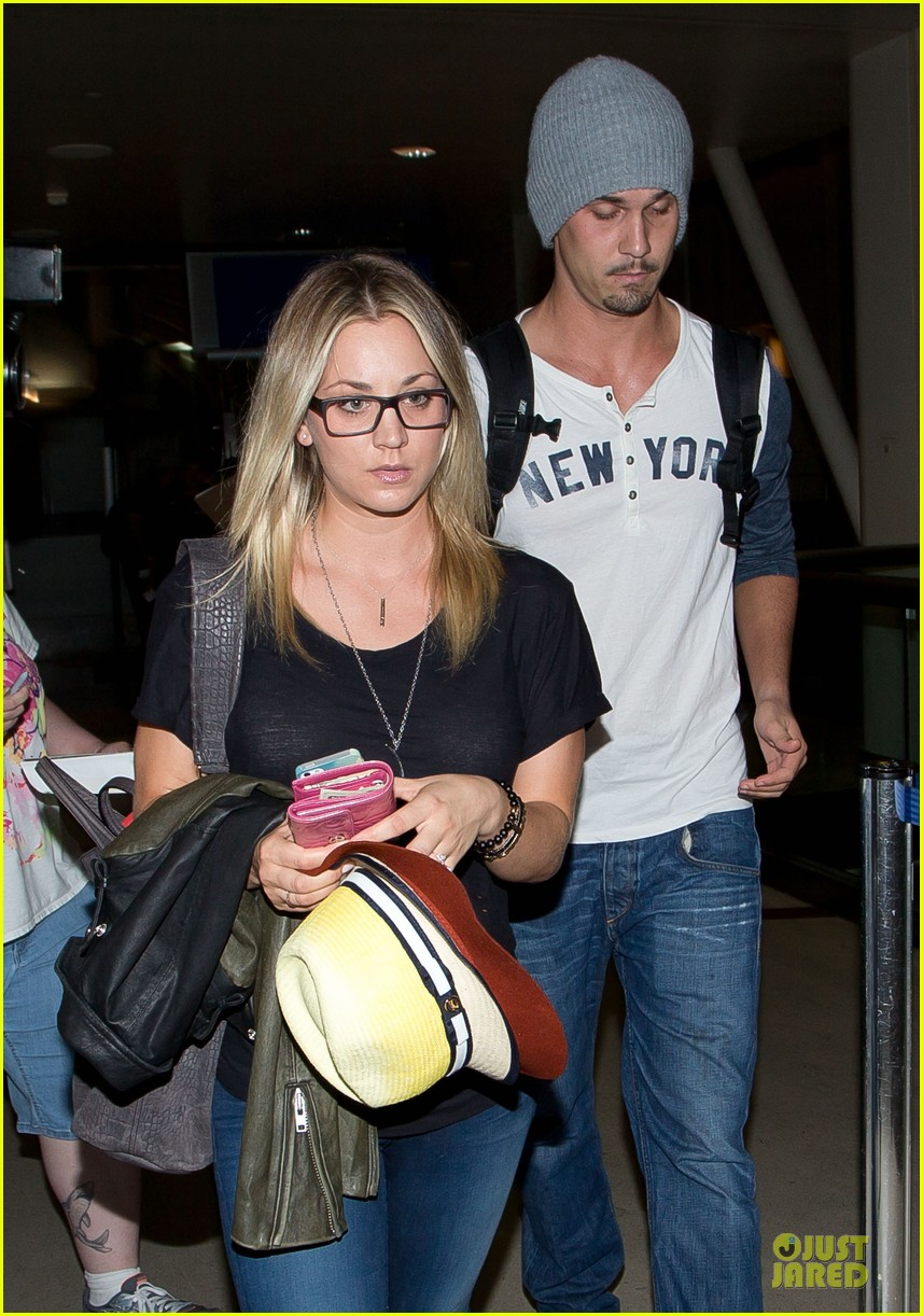 kaley cuoco ryan sweeting depart lax airport together 02