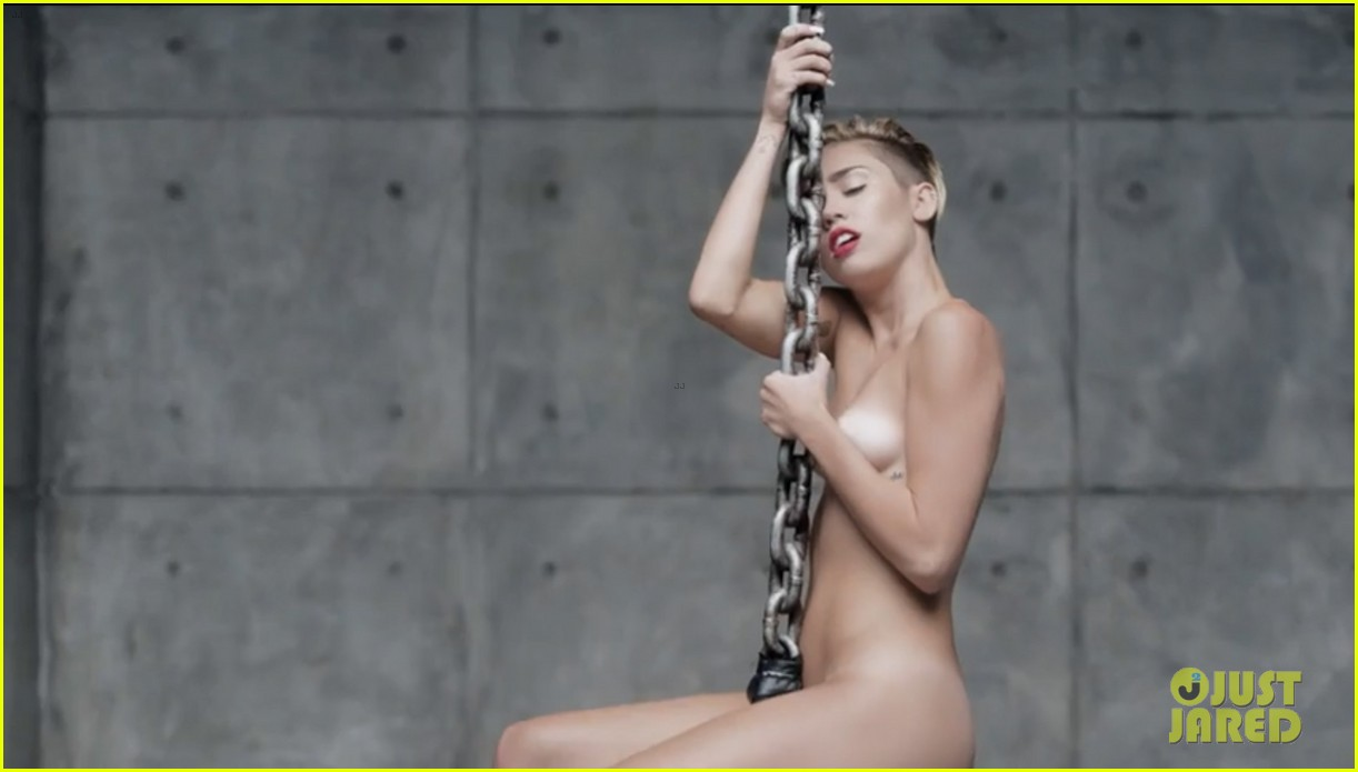 miley cyrus nude in wrecking ball video 032948185