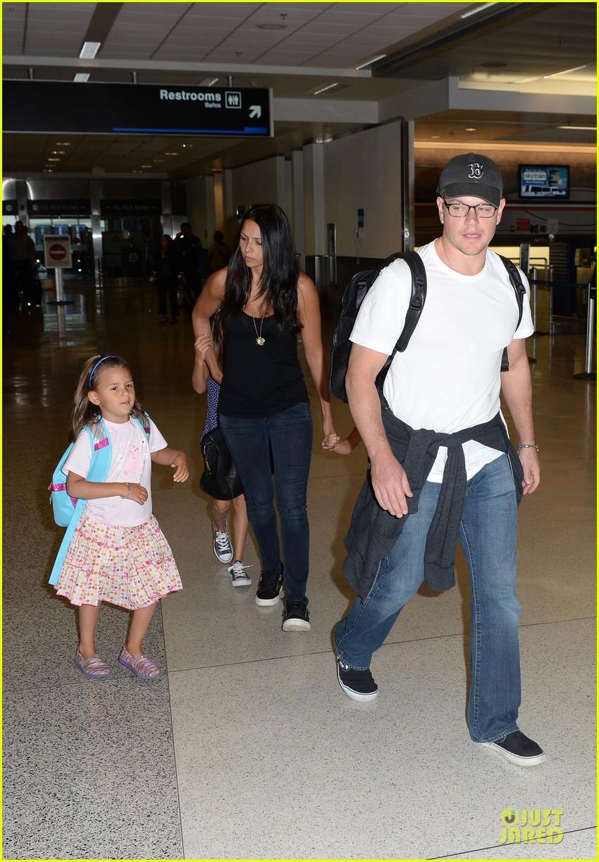 matt damon miami vacation with wife luciana girls 01