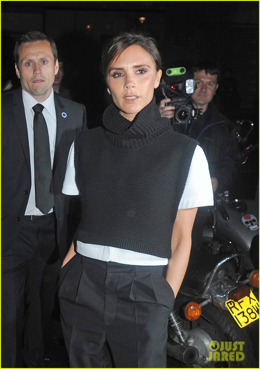 victoria david beckham separate london events 17