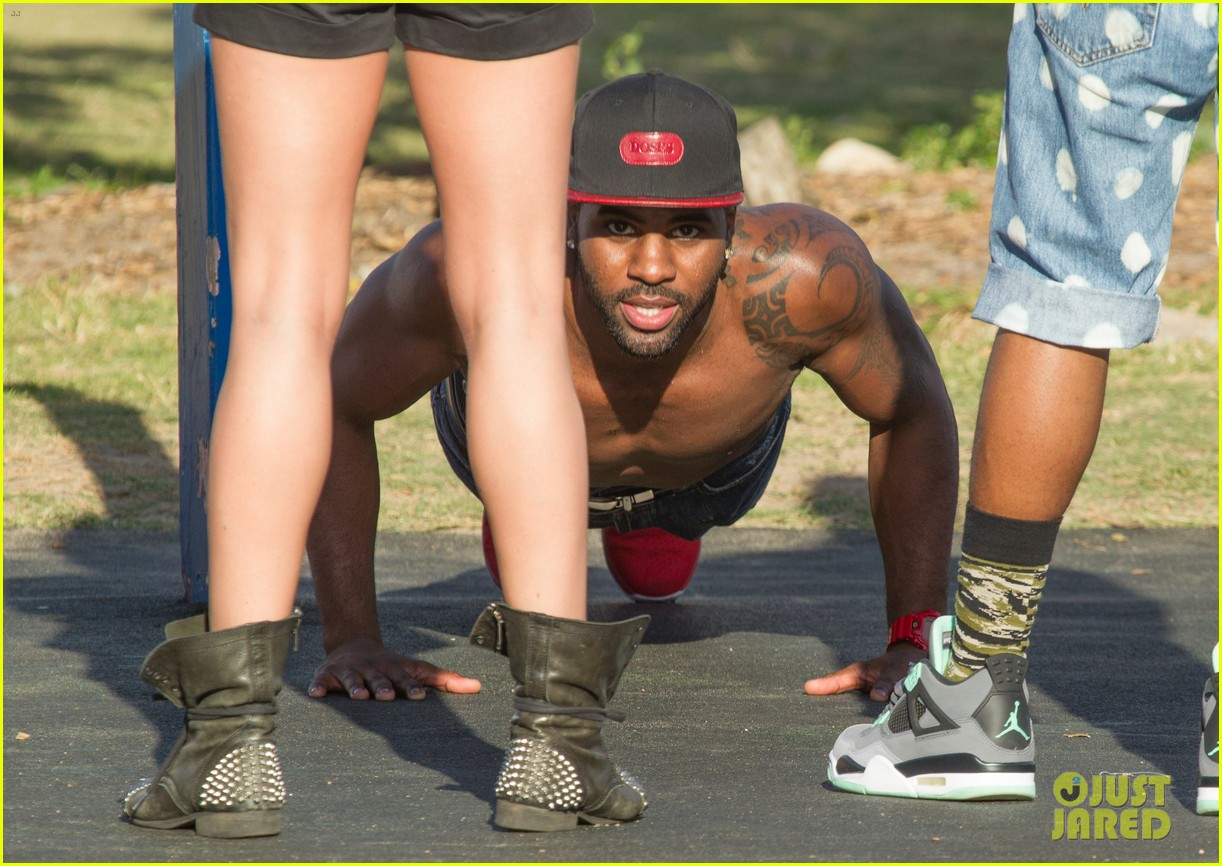 jason derulo shirtless workout in australia 192963170