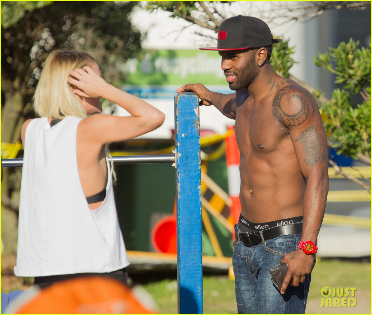 jason derulo shirtless workout in australia 212963172