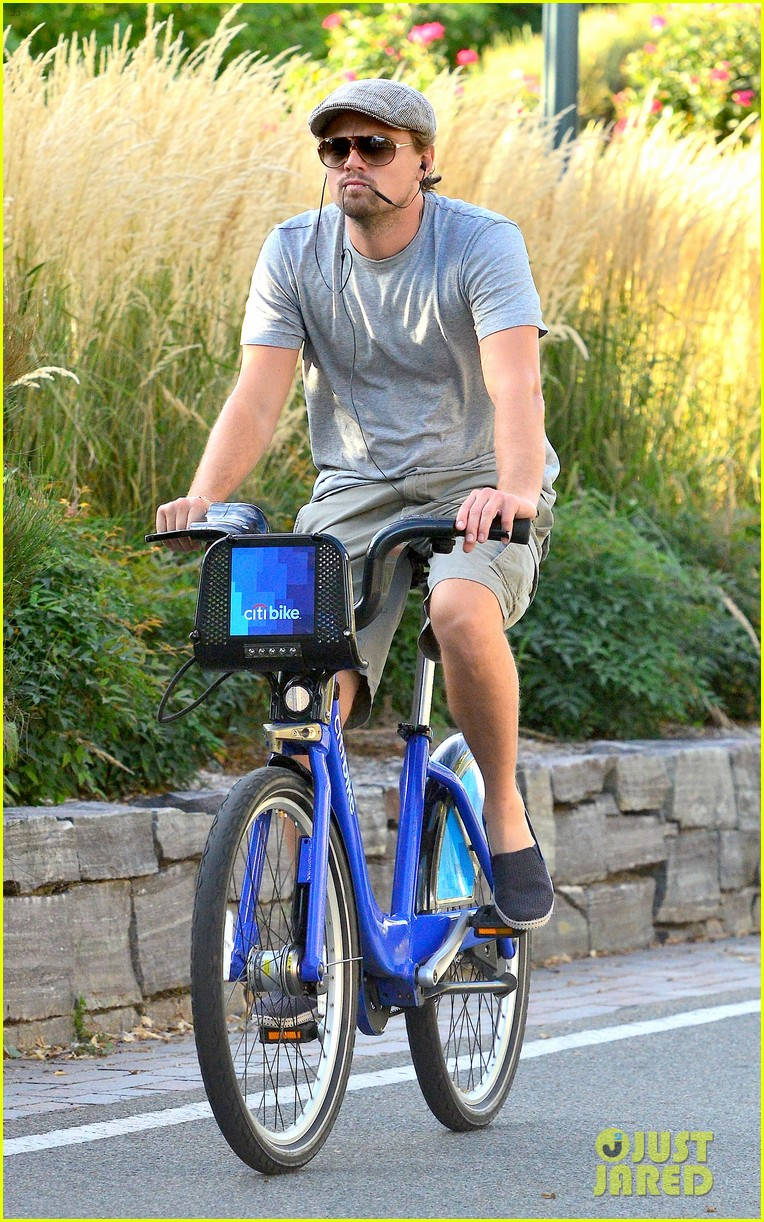 leonardo dicaprio citibike ride after us open date 012944069