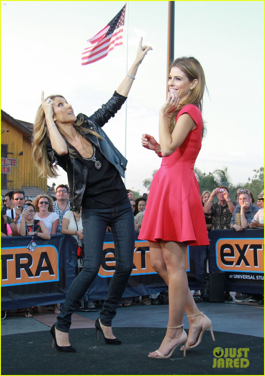celine dion tapes extra appearance with maria menounos 012948970