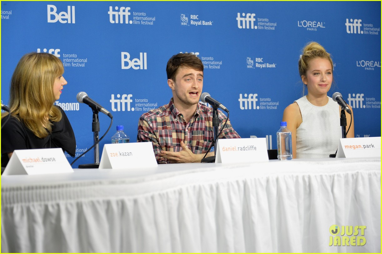 daniel radcliffe zoe kazan the f word portraits panel tiff 19