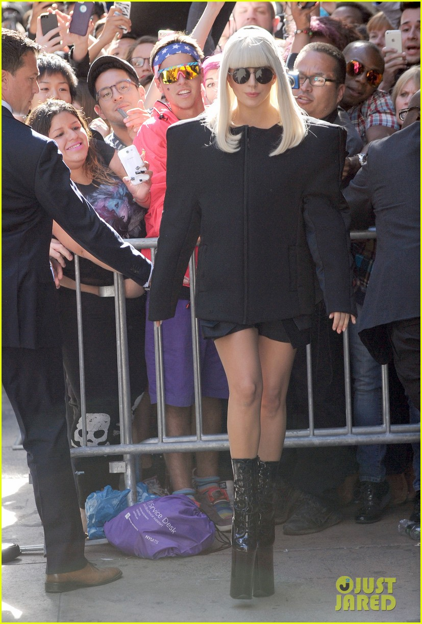 lady gaga serena williams exit good morning america studio 07