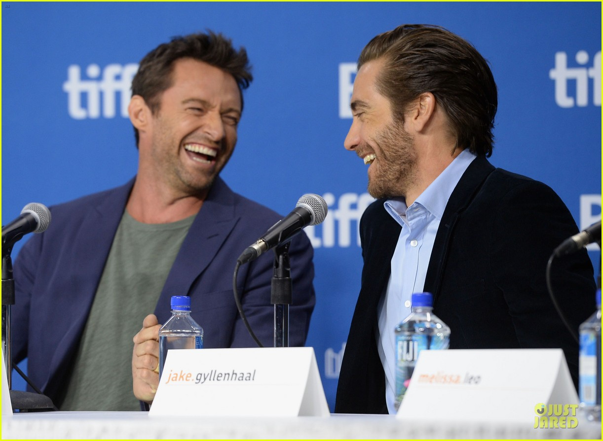 jake gyllenhaal hugh jackman prisoners tiff press conference 14
