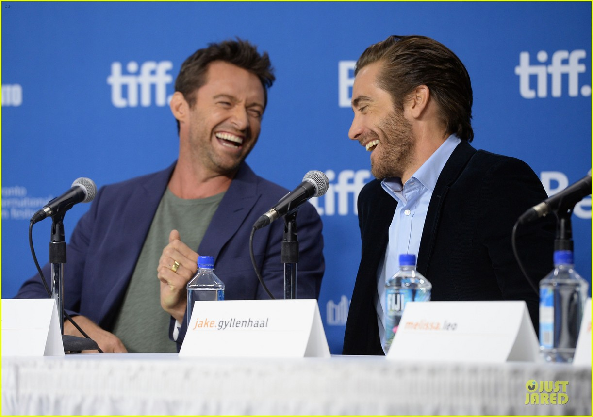 jake gyllenhaal hugh jackman prisoners tiff press conference 15