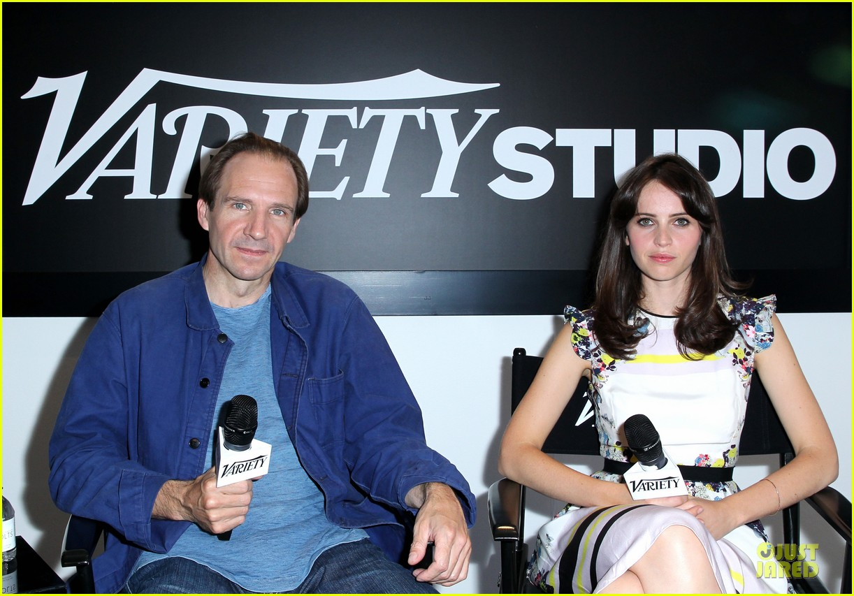 felicity jones ralph fiennes invisible woman tiff premiere 07