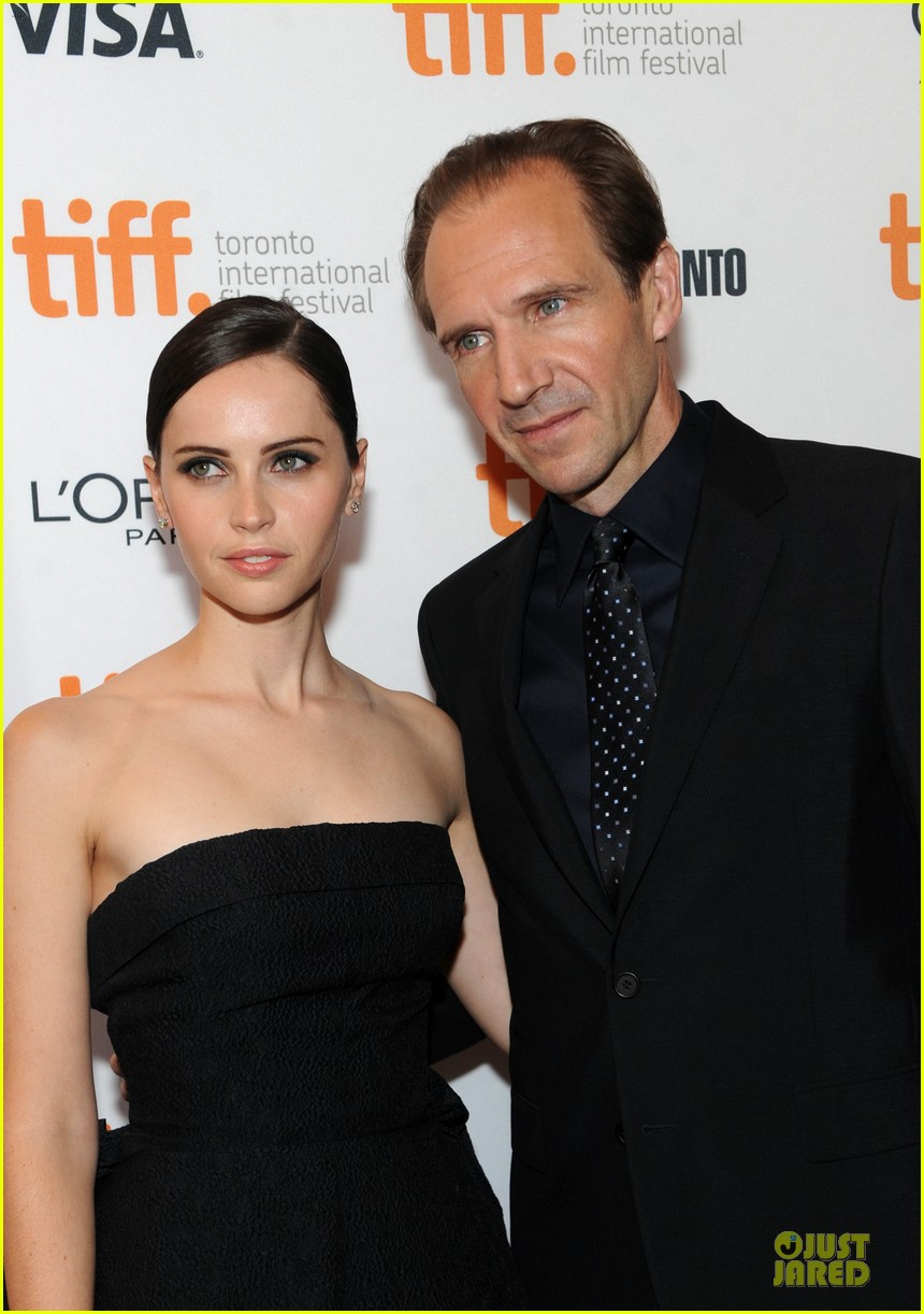 felicity jones ralph fiennes invisible woman tiff premiere 272948612
