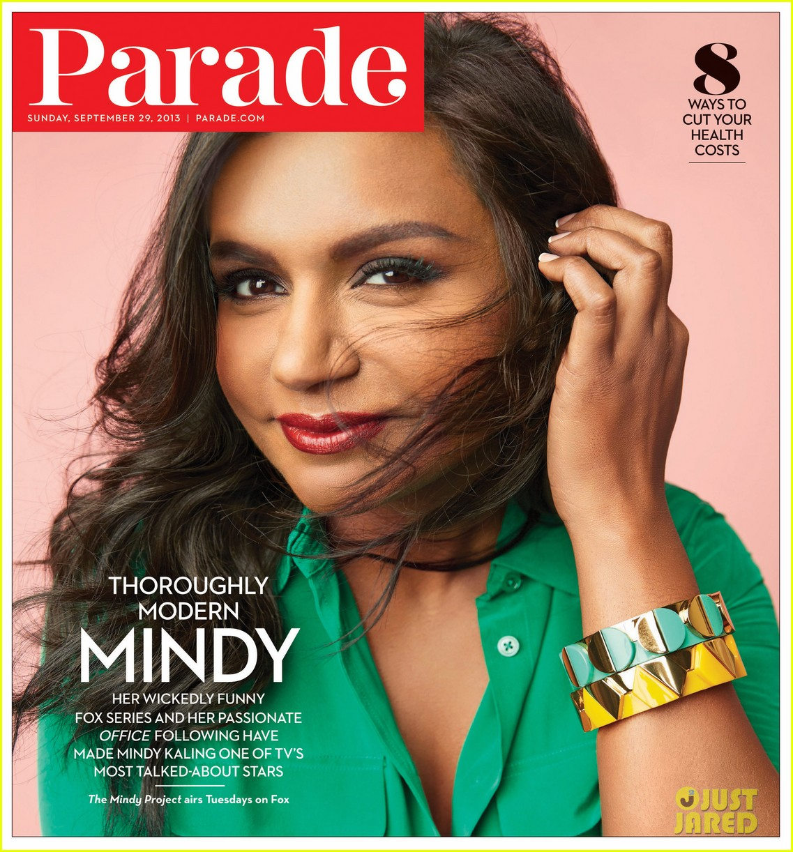 mindy kaling covers parades latest issue 01