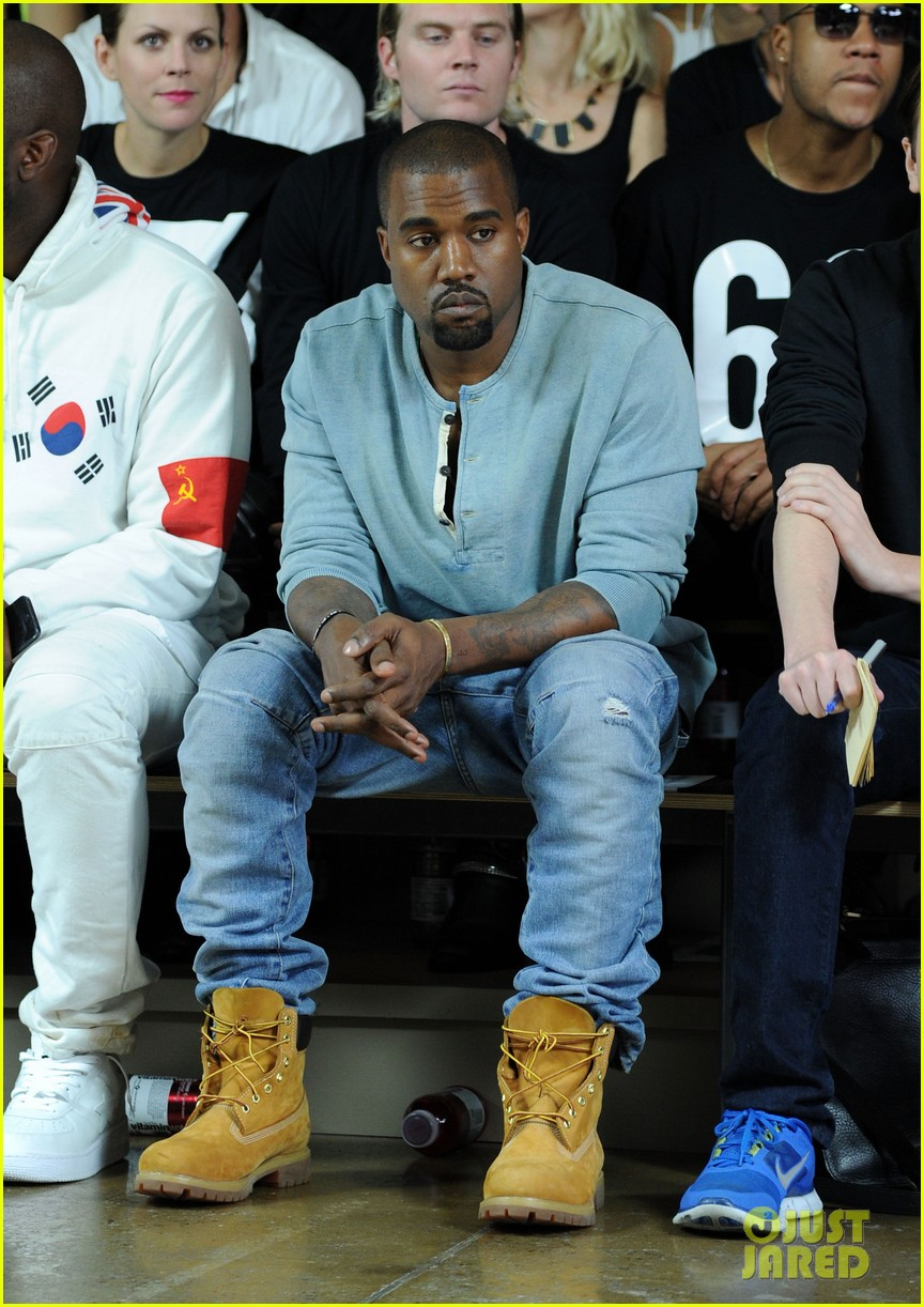 kanye west front row at hood by air fashion show 052947145