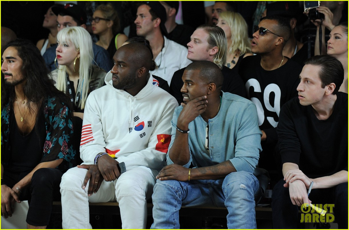 kanye west front row at hood by air fashion show 06