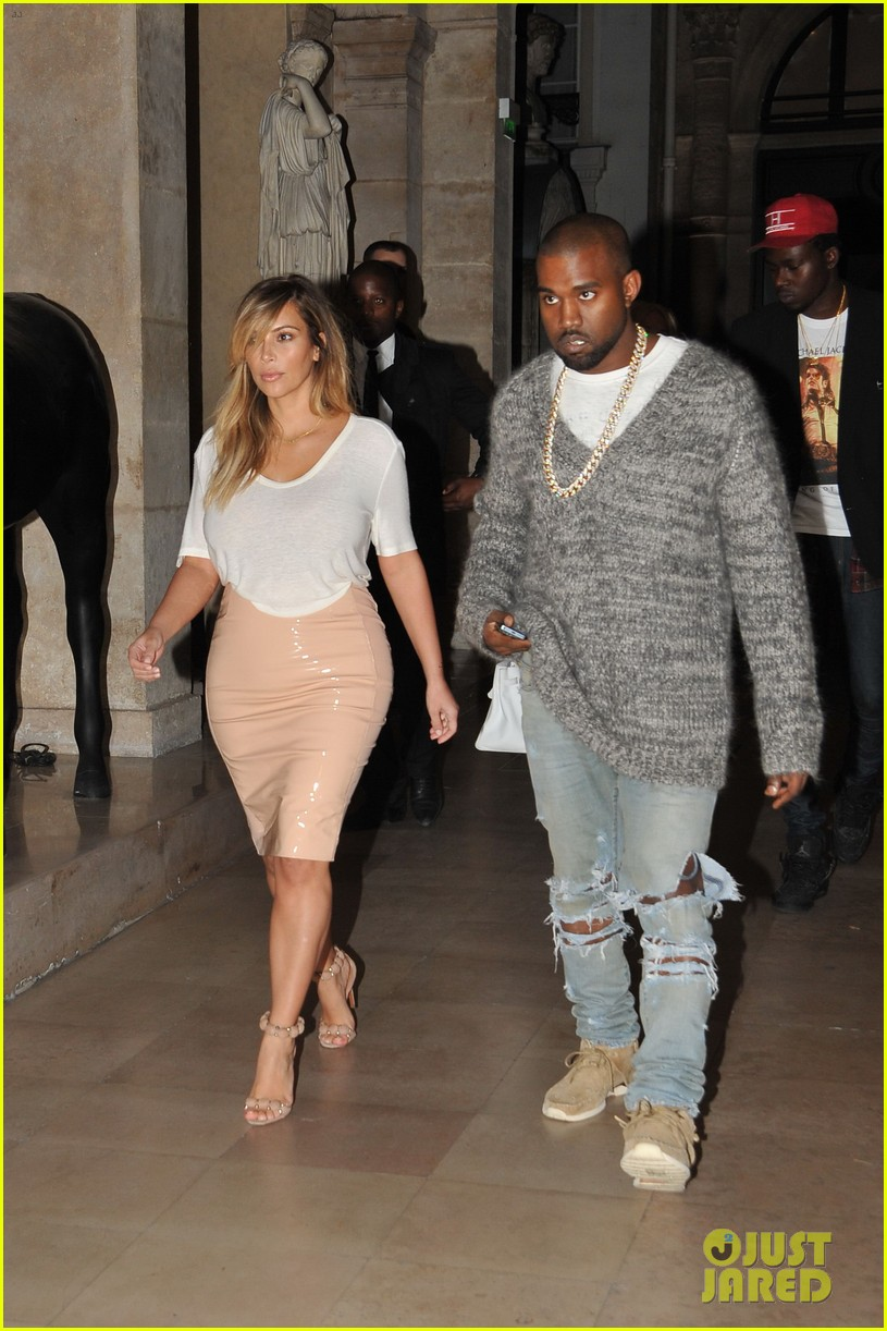 kim kardashian kanye west parisian dinner date 02