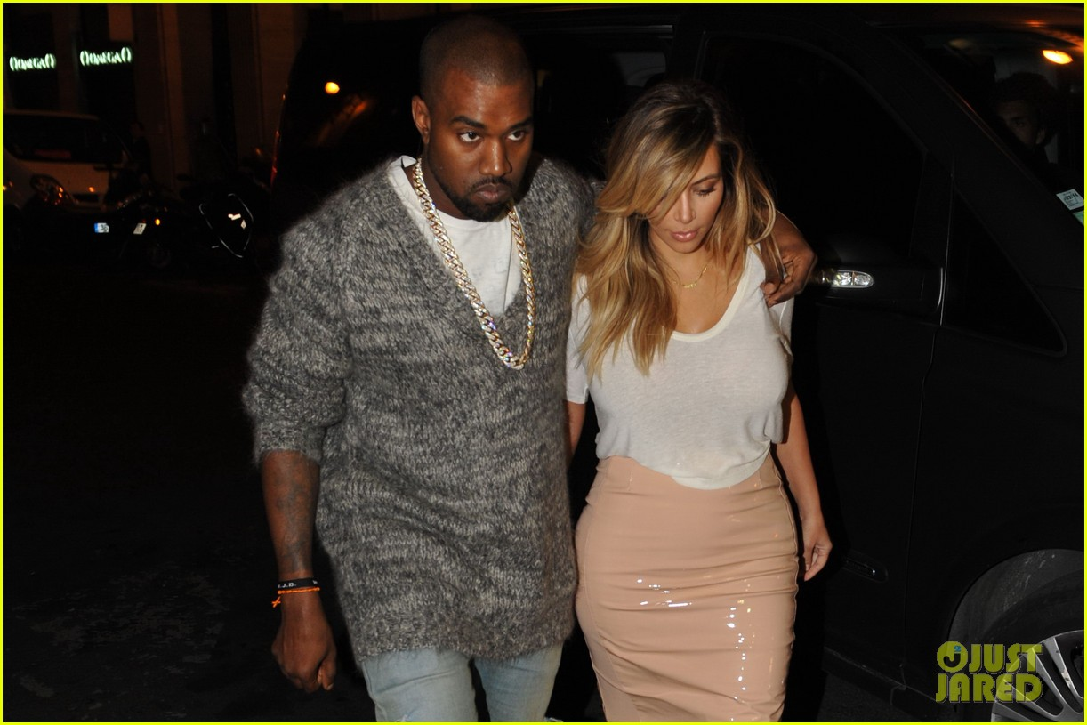 kim kardashian kanye west parisian dinner date 15