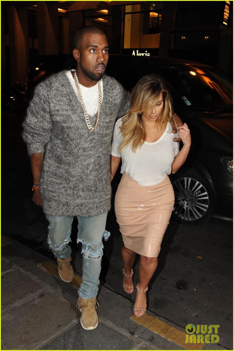kim kardashian kanye west parisian dinner date 17