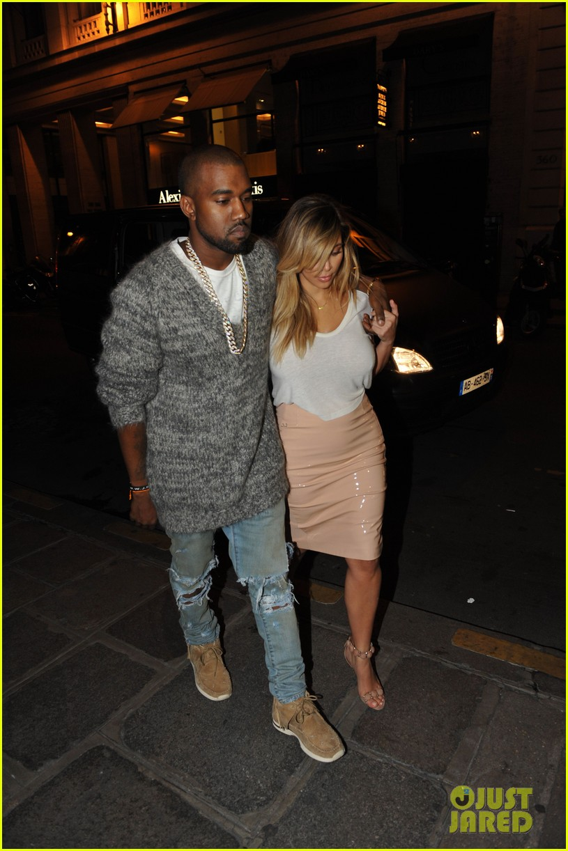 kim kardashian kanye west parisian dinner date 18