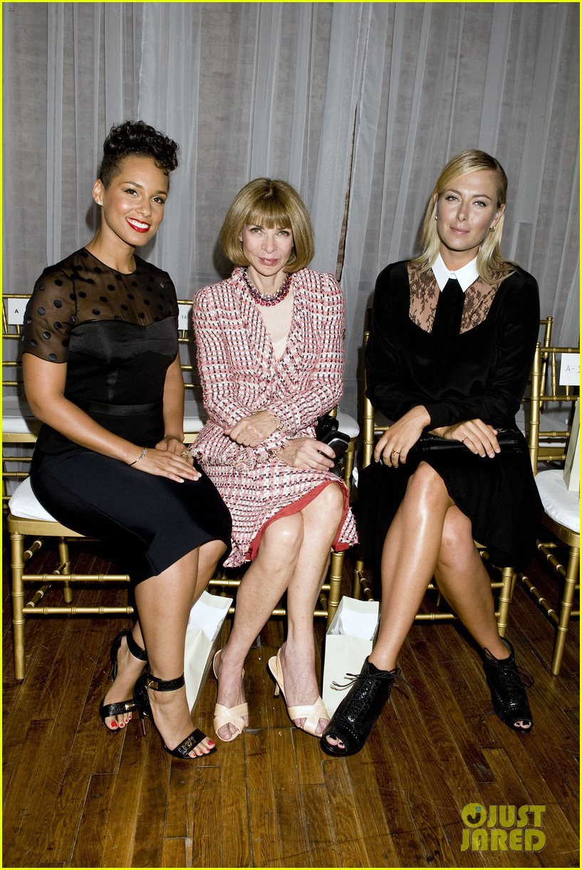 alicia keys maria sharapova jason wu fashion show 03