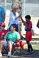 heidi klum tends to henry bloody nose soccer game 19