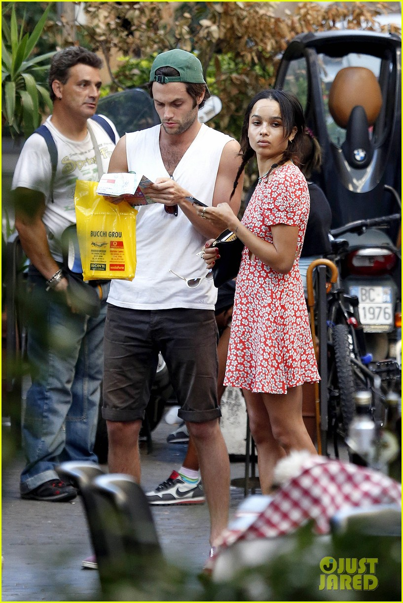 zoe kravitz penn badgley back together in rome 032958552