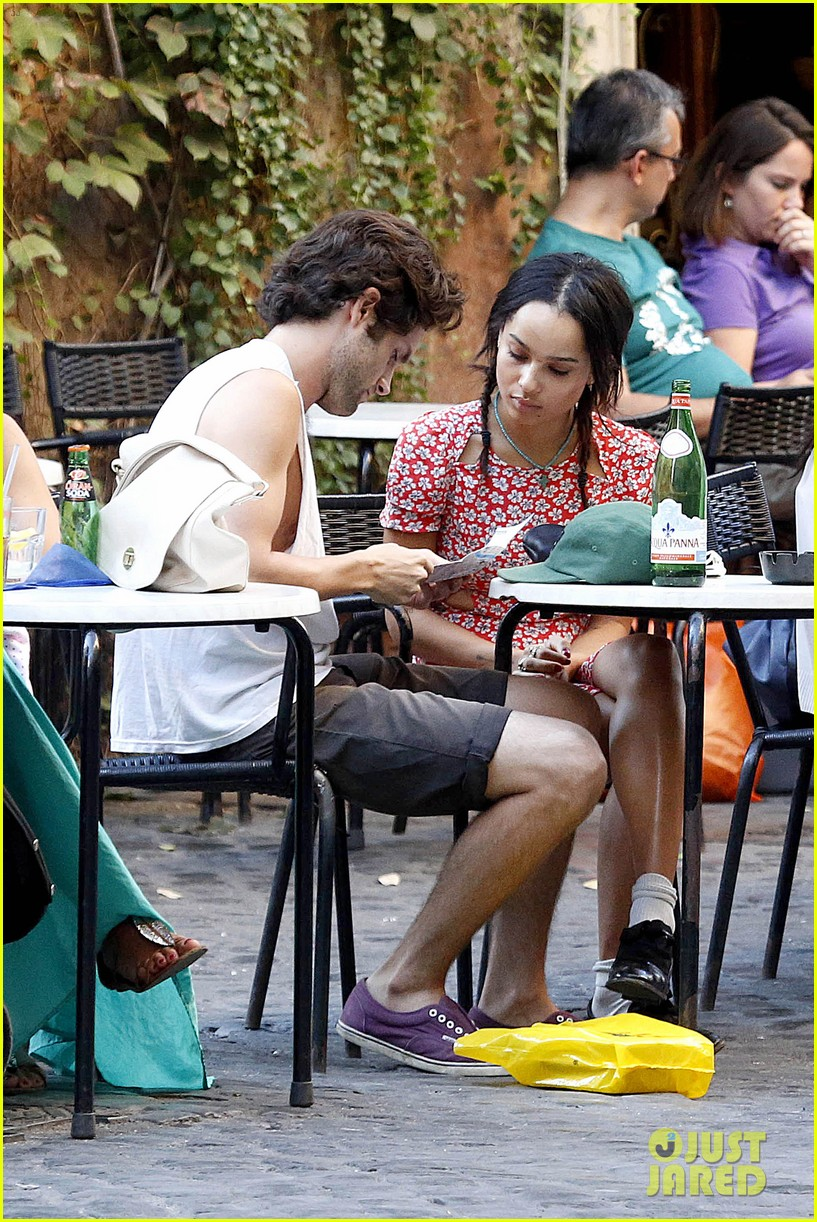 zoe kravitz penn badgley back together in rome 07