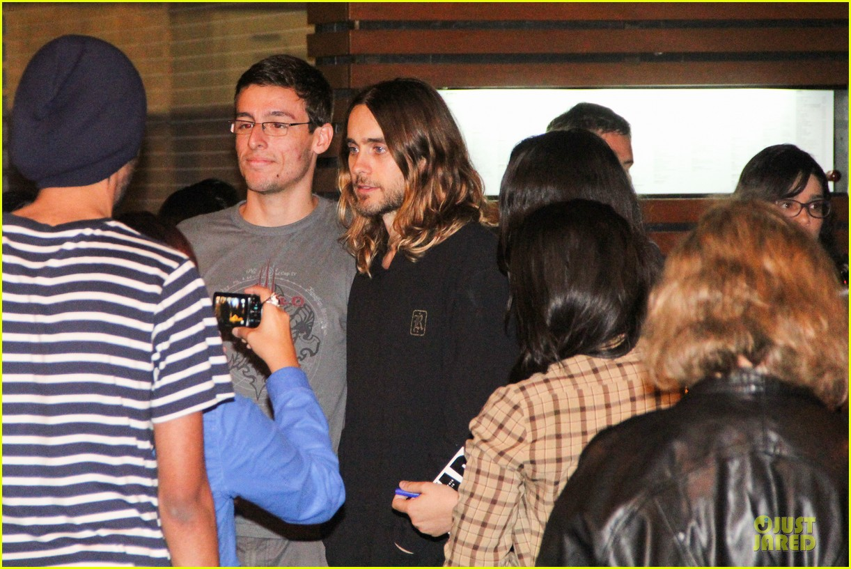 jared leto stops for fan photo op at sushi leblon restaurant 15