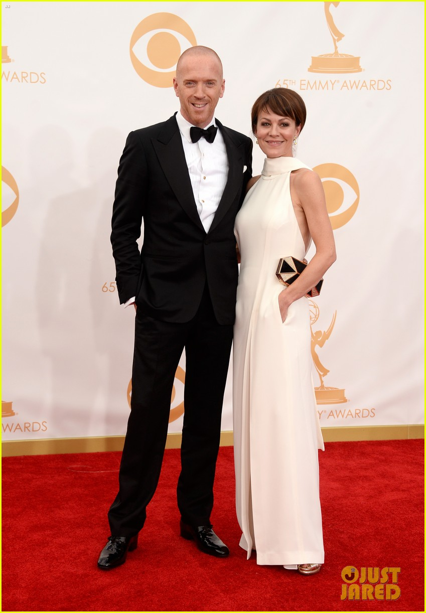 damian lewis emmys 2013 red carpet with helen mccrory 02