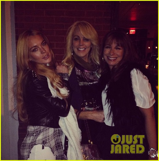 lindsay lohan steps out after mom dina birthday party 03