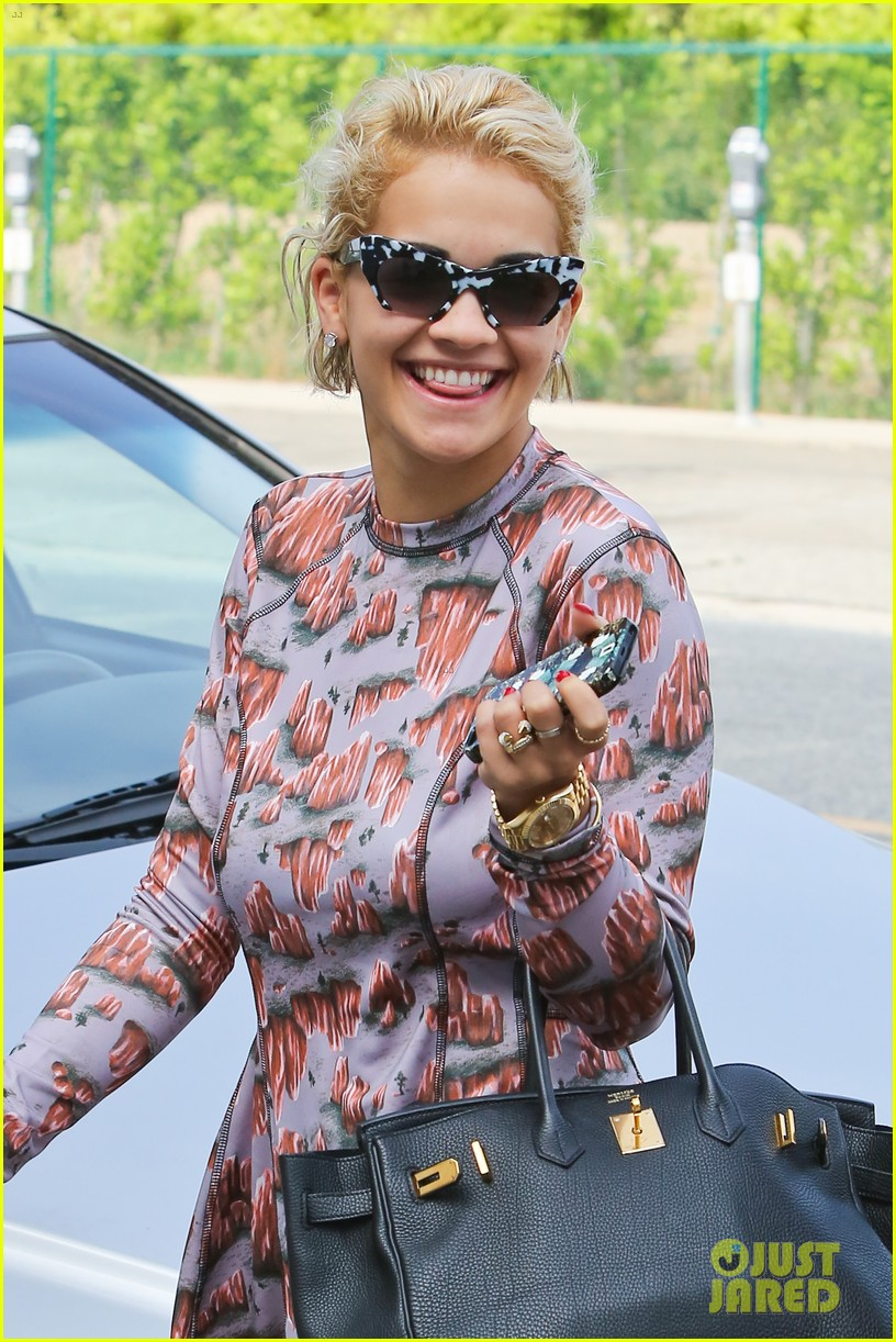rita ora visits the salon after studio time with calvin harris 08