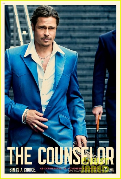 brad pitt michael fassbendr counselor character posters 032950360