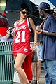 rihanna wears basketball jersey dress in rainy nyc 12