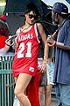rihanna wears basketball jersey dress in rainy nyc 24