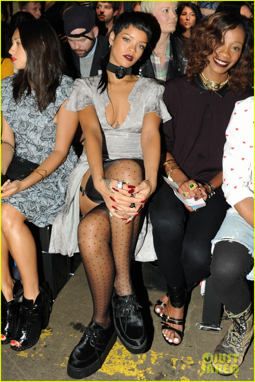 Full Sized Photo of rihanna justin bieber opening ceremony nyfw after ...