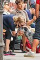 amanda seyfried kisses finn during friday walk 19