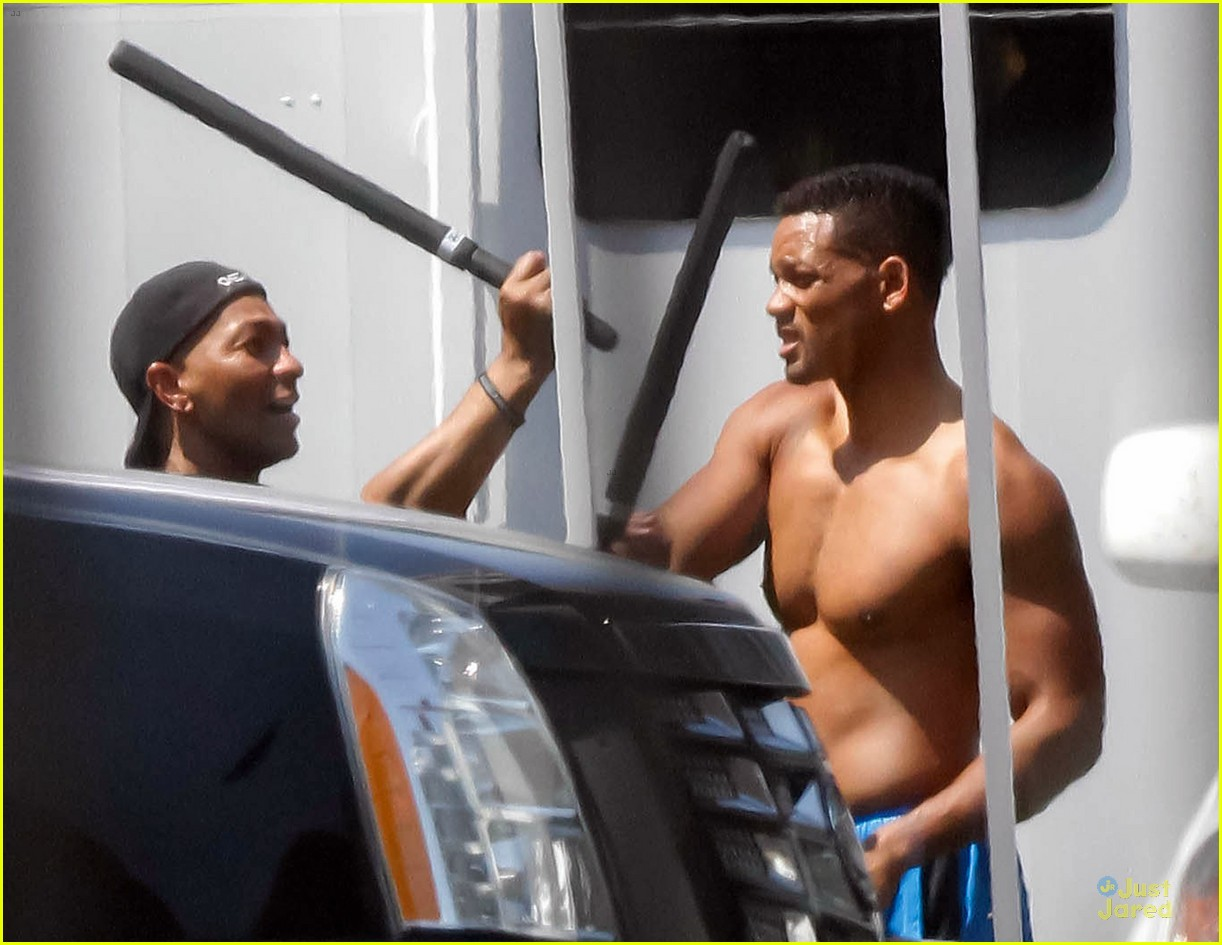 will smith shirtless fighting moves for focus 052951718