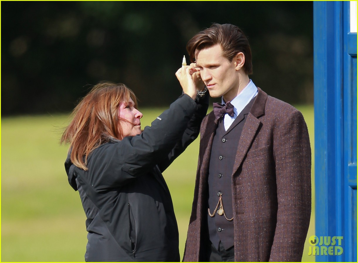 matt smith films doctor who christmas special with jenna coleman 032949167