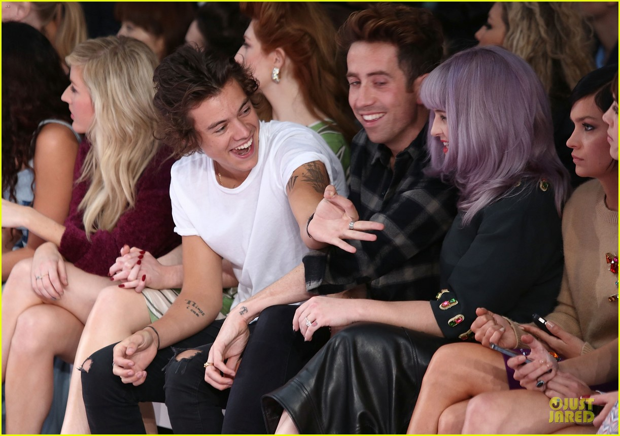 harry styles kelly osbourne house of holland fashion show 04