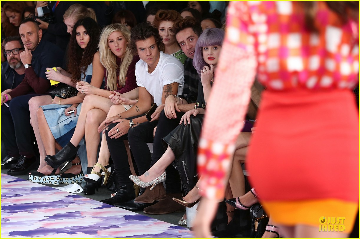 harry styles kelly osbourne house of holland fashion show 102952381